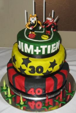 The cake: It looked garish, but tasted great.