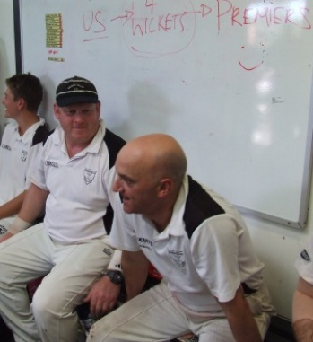 The whiteboard message from the tea break on the final day was crystal clear: We carried it out, and we won! L-R Jack Newman, Simon Thornton and Lou Raffaele.