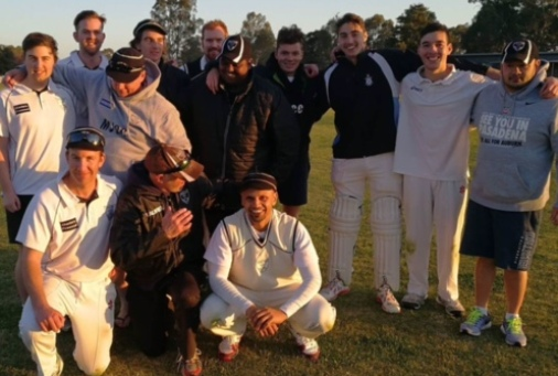 Our team which won the pre-season hit-out in Barham. L-R: Back - Matthew Esmore, Matt Thomas, Mark Gauci, Anthony Cafari, Nate Wolland, Channa DeSilva, Daniel Comande, Stephen Esmore, Nigel Cowan and Anthony Leonardo. Front - Ben Thomas, coach Lou Raffaele and skipper Rajan Aiyappan.