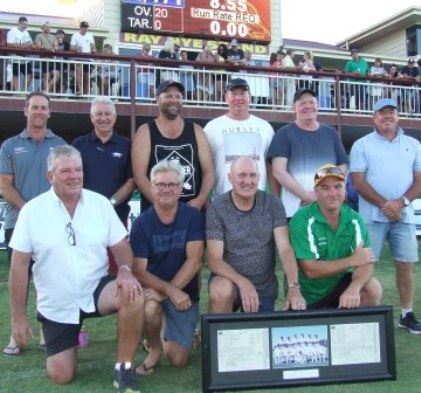 Moonee Valley couldn't have all the glory: The Barooga Cricket Club staged their own reunion gathering with Sean O'Kane.