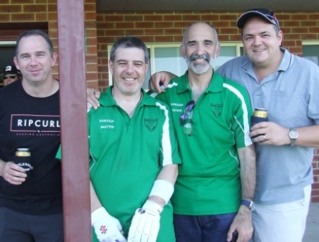 Strong support: L-R Peter Tomlin, Daniel Phillips, Joe Ansaldo and Dale Hadfield.