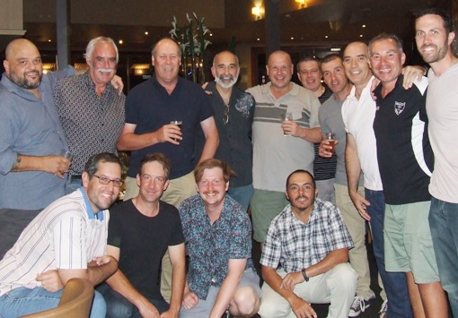 So all the cracks had gathered for the fray: L-R. Back - Sandro Capocchi, Charlie Walker, Ian Denny, Joe Ansaldo, Peter Smith, Daniel Phillips, Jim Polonidis, John Talone, Dean Jukic and Michael Ozbun. Front - Brendan Rhodes, Ben Thomas, Bede Gannon and Danny Terzini.