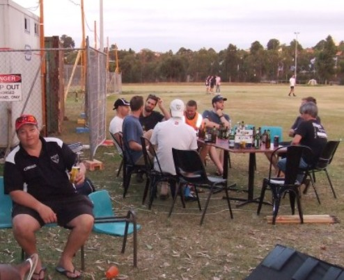 "The ""Starlight Lounge"" clubrooms - 300-gamer Mark Gauci (left) gets used to our temporary social area while our new clubrooms are built, while the Sixths take up a table in the background."