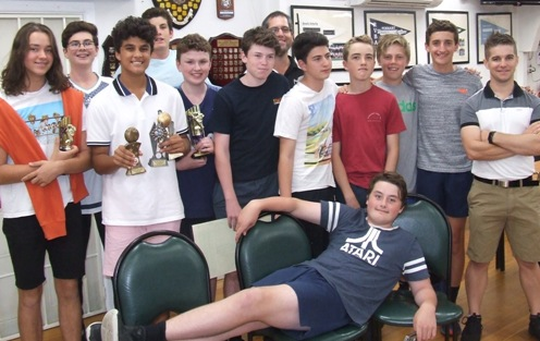 Almost there: Our Under 16s at presentation night. L-R Max Pickering, Tomas Morrissy, Krish Kanchan, Bevan Holder, Jack Cumming, Noah Wallwork, co-trainer Brendan Rhodes, Felix Fischer, Dylan Pleban, Jamie Akhurst, Luca Nimorakiotakis and coach Stephen Ward. Front: Keeper Caoimhin Corcoran.