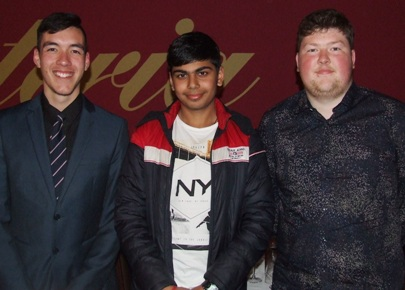 Our new summer recruits from our winter teams: L-R Nigel Cowan, Akshat Sehgal and Andreas Skiotis.