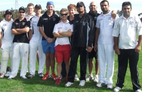 Our debut winter comp team: L-R: Jake de Niese, Ben Thomas, David Leece, Michael Ozbun, Matt Thomas, skipper Stephen Ward, Bede Gannon, Muhammad Maaz, Amit Chaudhary, Saeed Akram and Umar Farooq.