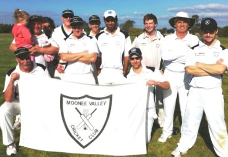 Our Moonee Valley team which beat Donnybrook.