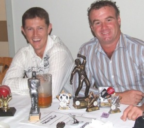 Beware! Accumulators of trophies (even the ones that don't belong to them). Craig Pridham (left) and Sean O'Kane.