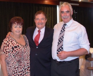 Di and Frank Hutchinson from the Don Kyatt Group of Companies with Charlie Walker.