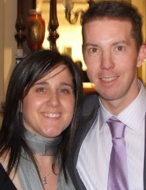 *Past player Rob Taylor and Jennifer.